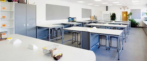 Mặt bàn thí nghiệm phenolic, epoxy phòng vật lý hóa học