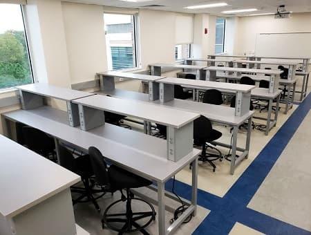 Bàn thí nghiệm ESD ghế dài tùy chỉnh và bàn cân phòng thí nghiệm