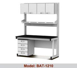 Bàn thí nghiệm áp tường 1 hộc 1 giá kệ tủ BAT-1210