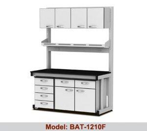 Bàn thí nghiệm áp tường 2 hộc 1 giá kệ tủ BAT-1210F