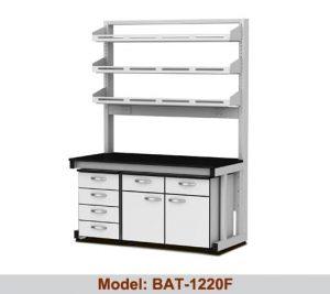 Bàn thí nghiệm áp tường 2 hộc tủ giá kệ BAT-1220F