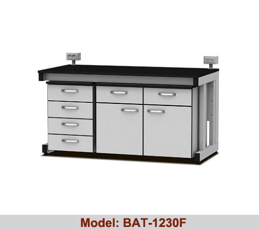 Bàn thí nghiệm áp tường có hộc tủ BAT-1230F