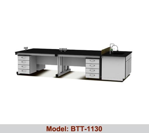 Bàn thí nghiệm trung tâm 2 hộc tủ BTT-1130
