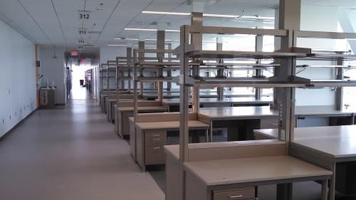 Thiết kế bàn phòng thí nghiệm kích thước tùy chỉnh