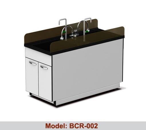 Bàn chậu rửa thí nghiệm đôi BRC-002
