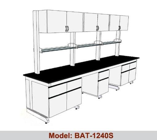 Bàn thí nghiệm áp tường kệ tủ treo BAT-1240S