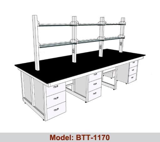 Bàn thí nghiệm trung tâm 6 hộc tủ BTT-1170